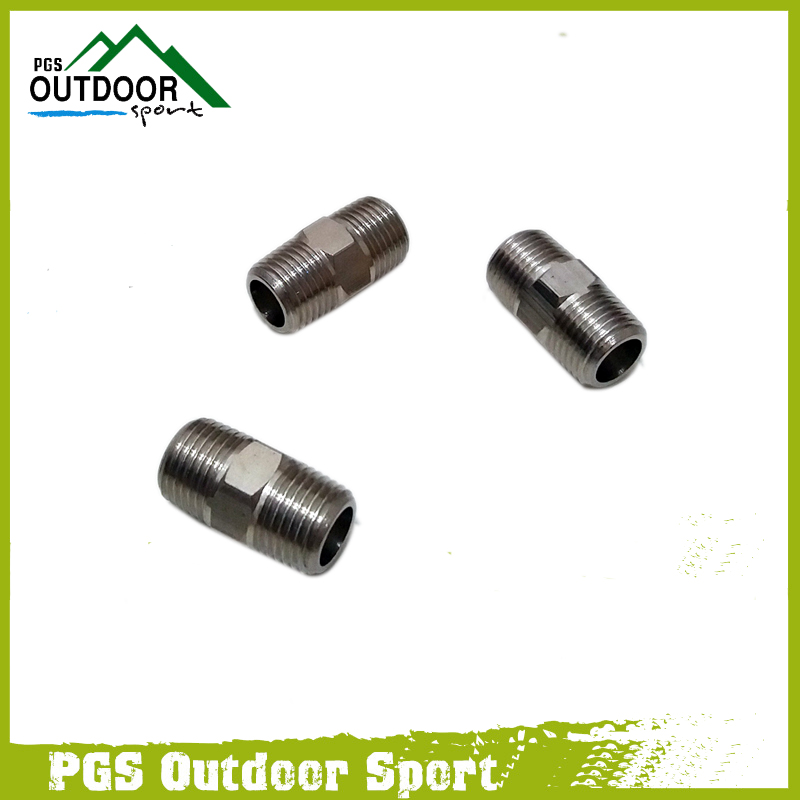 Paintball Air Fitting 3pcs Hose Pipe Hex Nipple Fitting Double Male 1/8