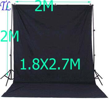 DHL FREE  photo studio accessories Background Support 1.8X2.7M Background Green white black color  muslin 2x2m backdrop stand photography photo video continuous lighting kit 2x3m background support light stand with green black white 2x3 muslin backdrops