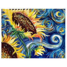 Diamond Painting Cross Stitch Sunflower by Van Gogh Famous Full Square Drills Embroidery