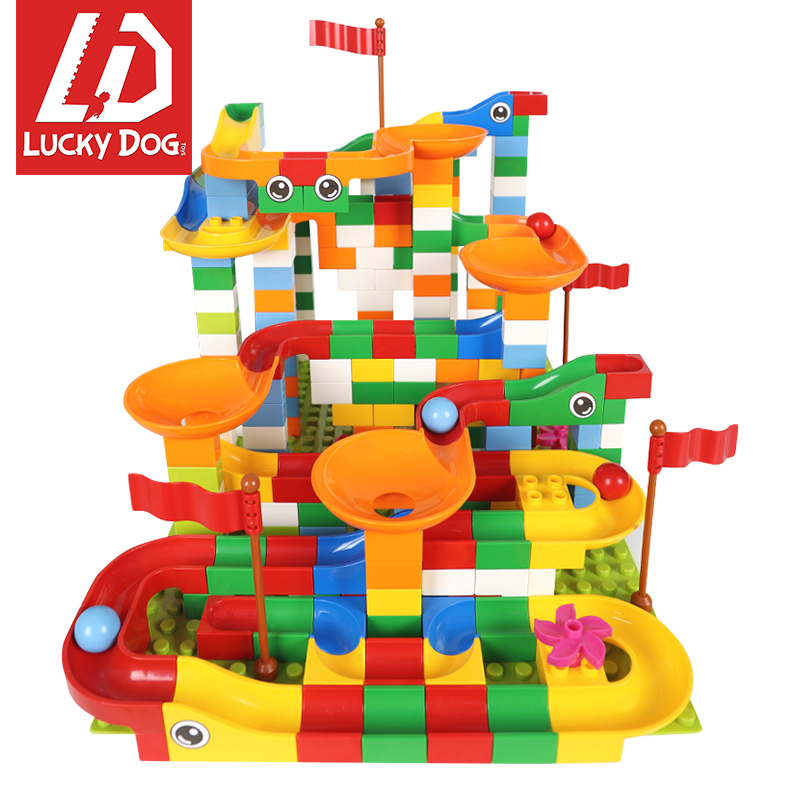 296 pcs Marble Race Run Maze Balls Track Building Blocks enlighten Bricks Compatible with LegoINGly Duploed