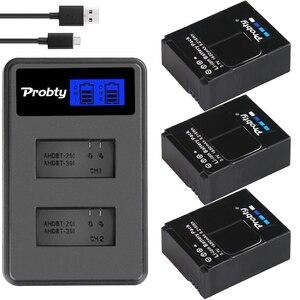 Image 3 - Oryginalna probty dla GoPro hero 3 hero 3 + hero 3 hero 3 + bateria + podwójna ładowarka LCD dla go pro AHDBT 301 akcesoria do kamery