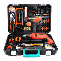 Impact Drill Set Hardware Toolbox Manual Tool Set Car Repair Kit Electrician Repair Kit Woodworking Tools