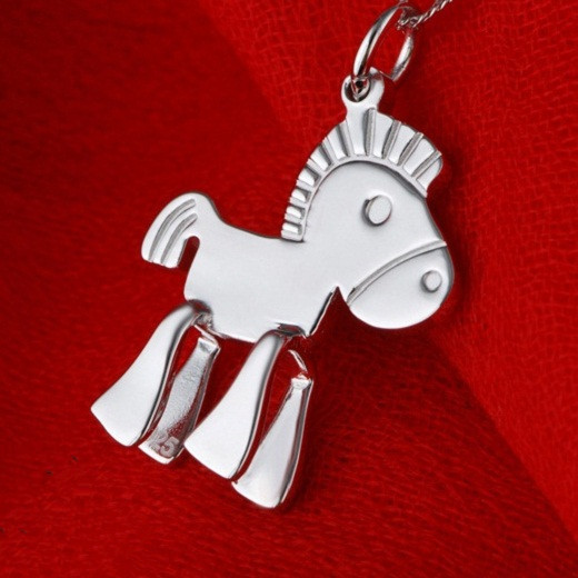 Pferd Anhänger Halskette Für Frauen Colgante Aanimal Mädchen/Jungen Beste Freunde  Valentinstag Liebe Sie Geschenke