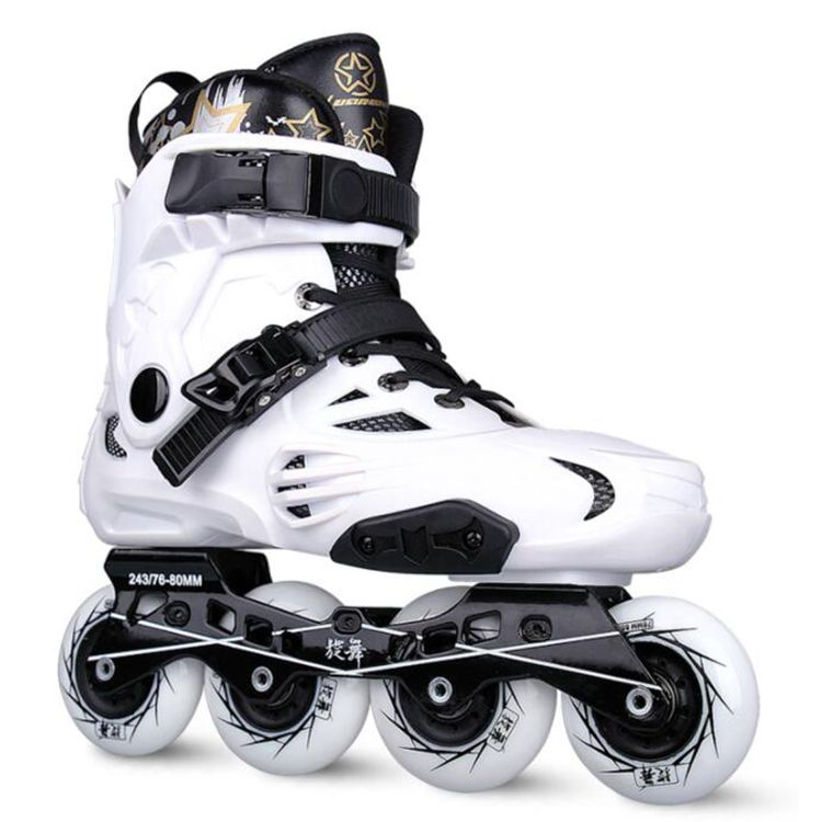 Hot sell ! Inline Skates Professional Slalom Adult Roller Skating Shoes Sliding Free Skating Good Quality labeda slalom inline skates 4 wheels adult skating shoes with rocking type pu wheels for free skating sliding street skating