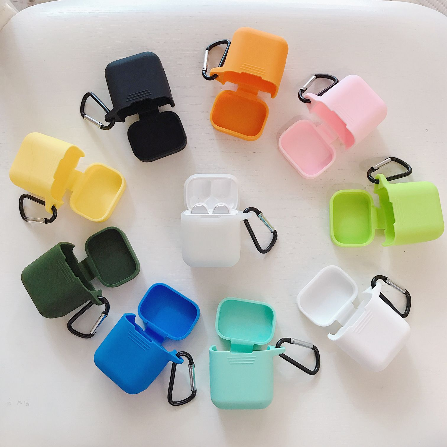 Silicone Shockproof Protective Cover Case Skin For Apple AirPods Earphone SP1