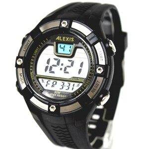 Image 4 - Moda esporte masculino relógios digitais resistente à água 3atm alexis marca homem data alarme backlight relógio digital dw381b