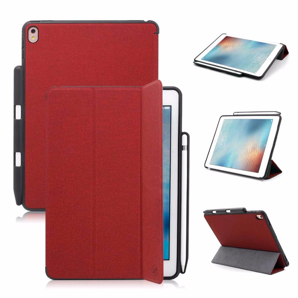 Pencil Holder Fold Leather Cases For Ipad Pro 9.7 Case Business Full Protector Slim Back Cover For Ipad Pro 9.7