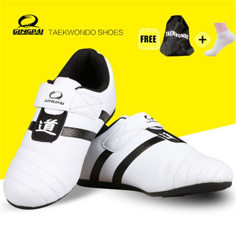 Freier Verschiffengesundheitssportschuh-Mannkinder Erwachsener WTF PU Breathable Fußschutzschutz Taekwondo beschuht Trittboxenschuhe