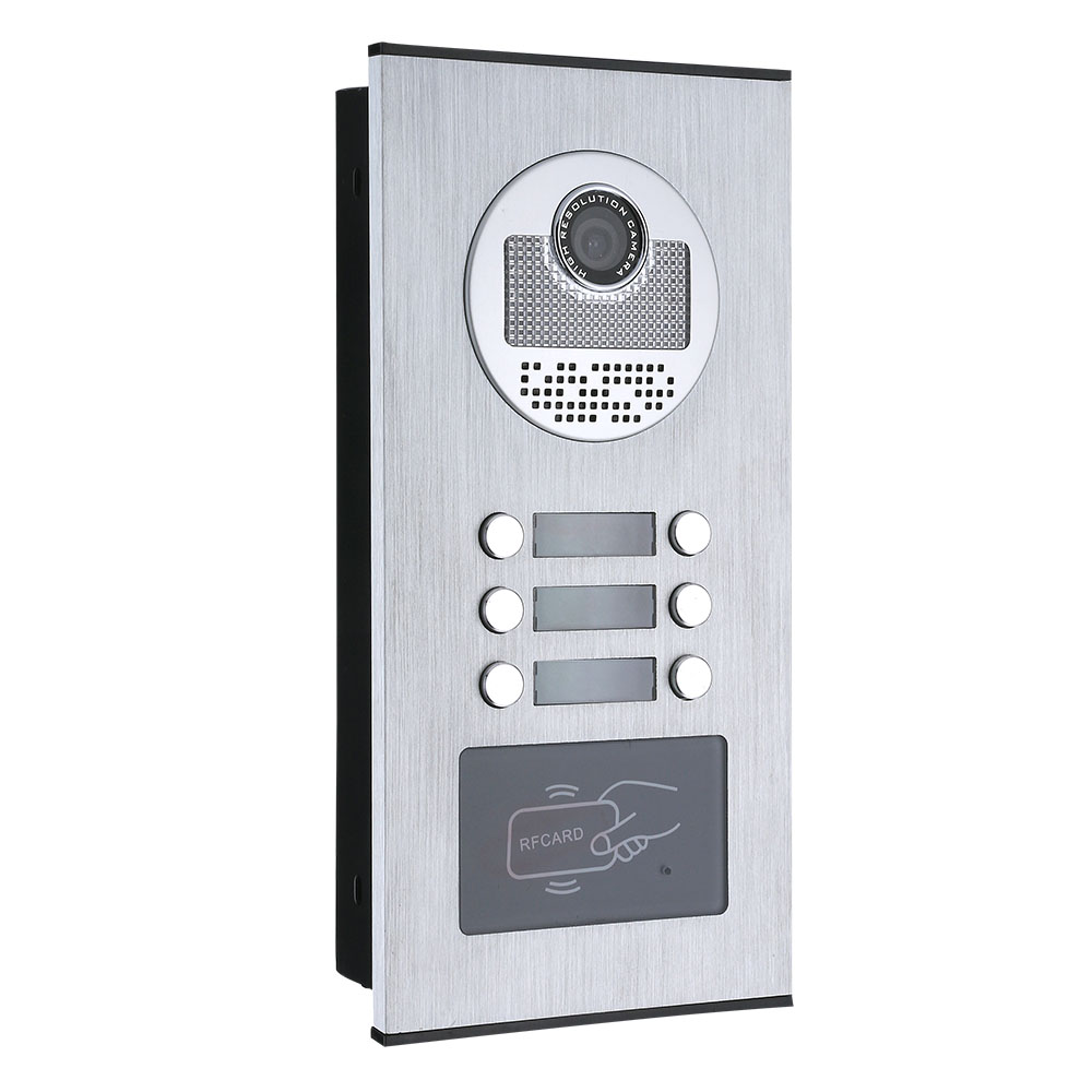 7inch Record Wired Wifi 3/4/5/6 Apartment/Family Video Door Phone Intercom System RFID IR-CUT HD 1000TVL Camera  with 6 button