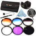 55 мм Окончил Цвет ND Нейтральной Плотности UV Protector CPL FLD Объектива Комплект Фильтров Для Sony A200 A450 A300 Alpha DSLR