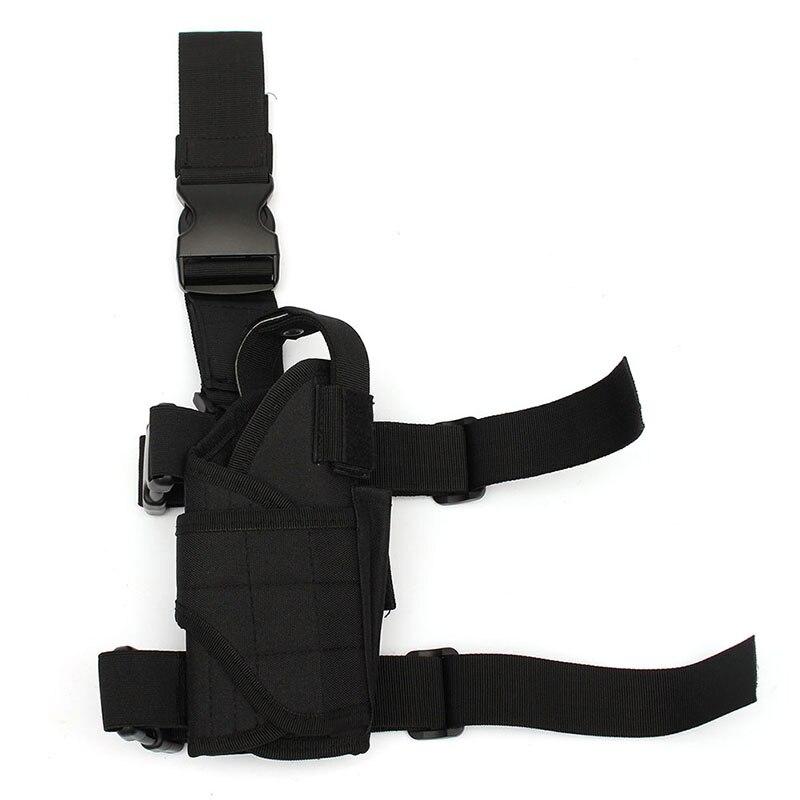 Цена за 3 Цветов Многофункциональный Охота Тактический Обмотки Бедро Нога Пистолет Кобуры Мешок Наматывается вокруг мешок Охотничье Ружье аксессуары
