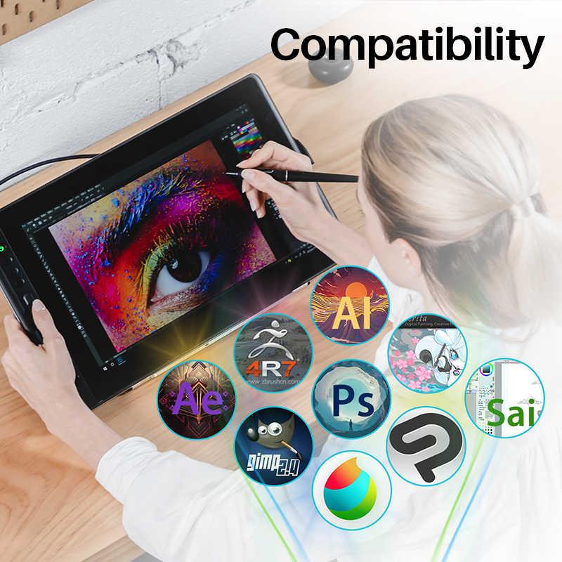 Huion Kamvas プロ 16 15.6 インチデジタルタブレットバッテリーフリーペンディスプレイデジタルペンタブレットモニター描画モニターチルト func AG ガラス