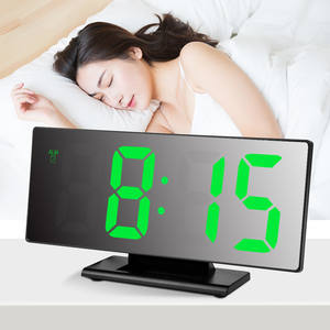 Alarm-Clock Time-Night-Lcd-Light Desktop Digital Table Snooze-Display LED Multifunction