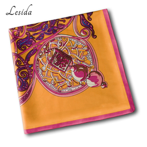 Image 5 - 2020 VINTAGE Big Square Hijabs สุภาพสตรียี่ห้อ Twill ผ้าพันคอ Shawl พิมพ์สัตว์สีเหลือง Hijabs ขายส่ง 130*130 ซม.1331 M