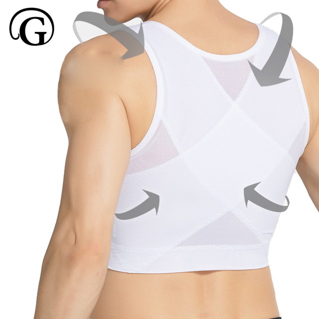 eb53a80270 PRAYGER Men chest boob Control Shapers Slimming Tummy Trimmer Underwear  Hold Big chest body shaper vest