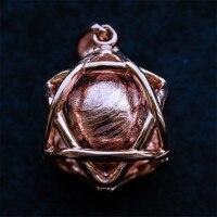 12 мм натуральный шарик Moldavite GibeonIron метеорит драгоценный камень розовое золото ювелирные украшения кулон шарик шар 11 г AAAAA