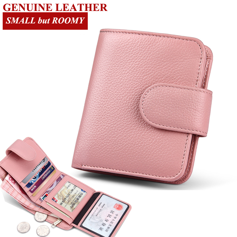 Stylish Short Wallet for Women Purse Genuine Leather Fashion Women Wallets  Ladies Small Roomy Wallet Women Coin Purses 6N07 18-in Wallets from Luggage  ... 78ae61d13d6