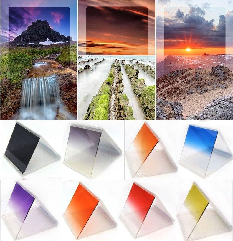 1pcs New 24 colors Graduated color filter Full Color Lens ...