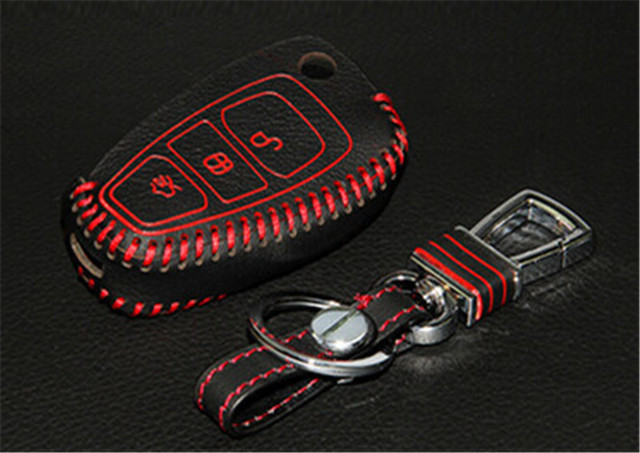 1 шт. Кожа Металл Дистанционного Smart Key Дело Брелок Обложка Для Ford Focus 2-3 MK2 MK3 2005-2015