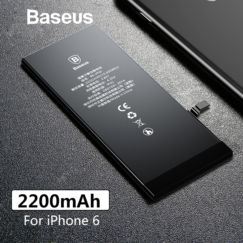 Baseus Phone-Battery Replacement-Batteries 2200mah Original For 6 With Free-Repair-Tools