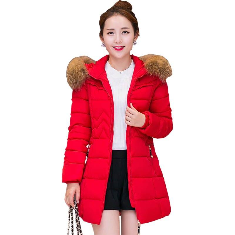100% Waar Winterjas Vrouwen 2017 Fabriek Groothandel Koreaanse Vrouwen Katoen Lange Gewatteerde Jas Vrouwen Slanke Down Vestidos Nz032