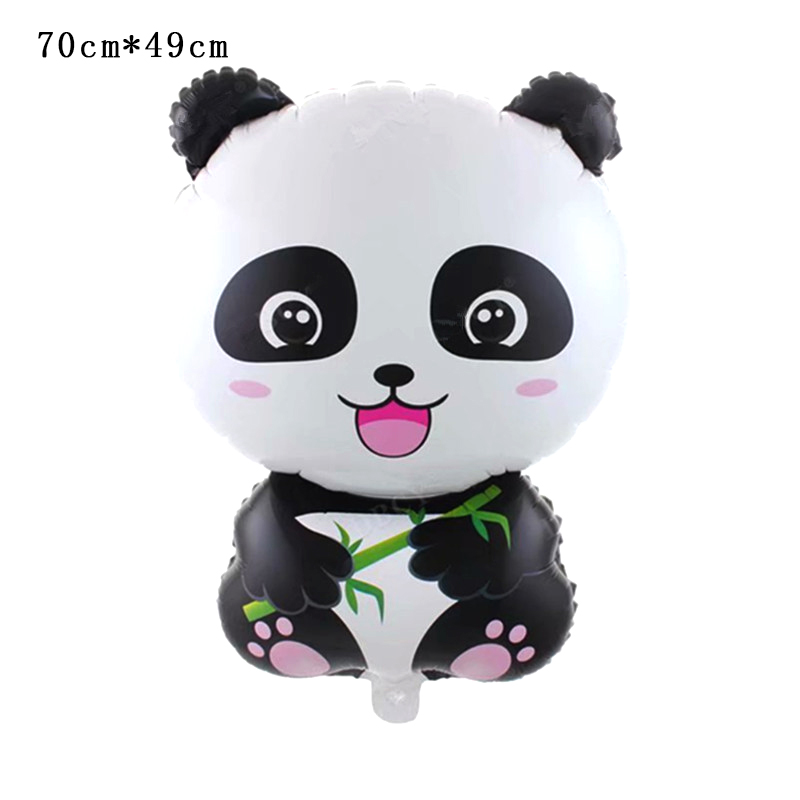 Купить с кэшбэком colorful panda paper plate cups flag popcorn box birthday party decoration for kids baby shower party Supplies