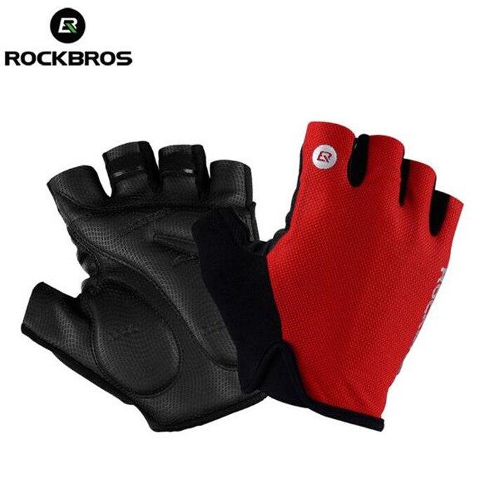 ROCKBROS Cycling font b Gloves b font Half Finger Bike font b Gloves b font Shockproof