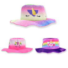 New childrens clothing fisherman hat Unicorn girls cartoon summer baby sun protection