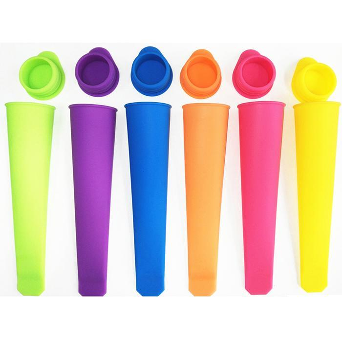 6 Colors Creative Silicone Handheld Popsicle Mold Ice Cream Mould Home 30ml
