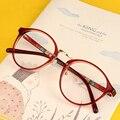 Óculos Ópticos Quadro miopia Ultra-leve Do Vintage Redondas De Metal Das Mulheres Dos Homens Unisex Óculos Óculos oculos de grau Óculos