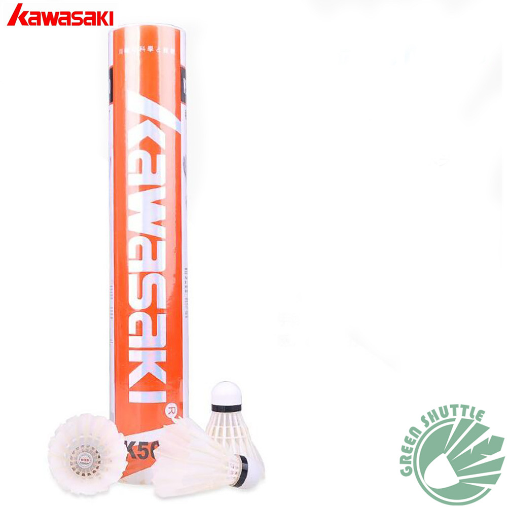 2020 Genuine Kawasaki Innovative 3 In 1 Durable Badminton Shuttlecock With Goose Feather K500