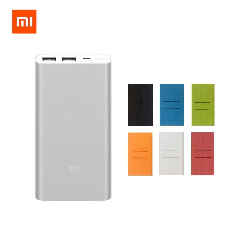 Original Xiao mi banco 2 10000 mAh batería externa portátil charginQuick carga 10000 mAh Powerbank soporta 18 W carga