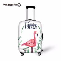 WHOSEPET Flamingo Case Travel Dustproof Luggage Cover Fresh Elastic Stretch Protect Suitcase Cover For Women Girl