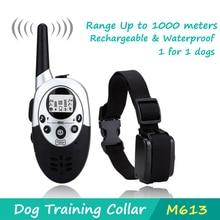 Chien collier de dressage 1000 metros étanche et Rechargeable avec écran LCD shock collier à distance de contrôle barking collier pour 1 chien