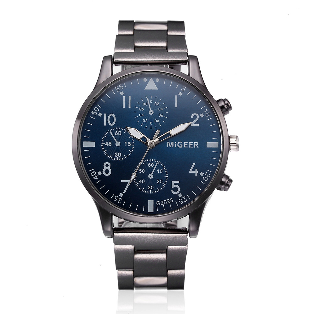 Quartz Casual Slim Mesh Steel Date Sport Watch