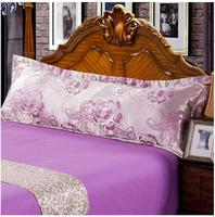 323 New double pillowcase satin jacquard m 1.8/1.2/1.5 meters long lovers wedding ice silk extended pillowcase Free shipping