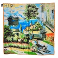 New Brand Fashion Women Large Square Scarf Printed Ladies Floural Headband Scarves Wraps Claude Monet's Painting Collection