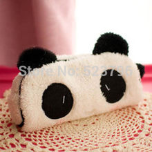 Kawaii Plush Fluffy Panda Student Pen Pencil BAG Pouch Case Pack Pendant Cosmetics & Beauty Pouch Bag Case Coin Purse Wallet BAG(China)