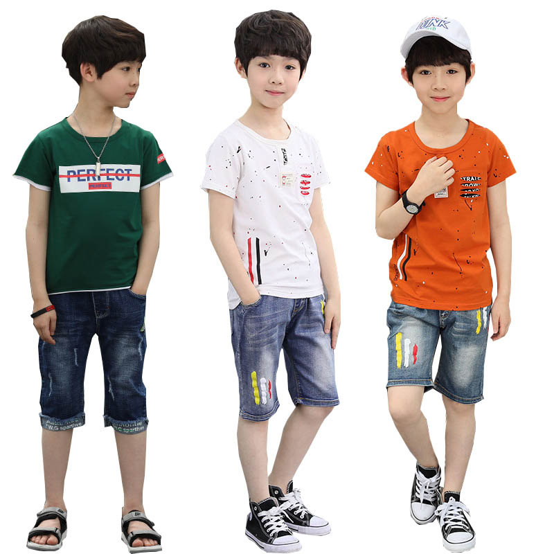 Boys Clothes 2018 Summer Casual Kids Outfits Camo Print T Shirts Short Jeans 2pcs Baby Children Clothing Set Boys Clothing Set new fashion kids clothes set baby boys summer 2pcs set short sleeve t shirt and striped short outfit children set