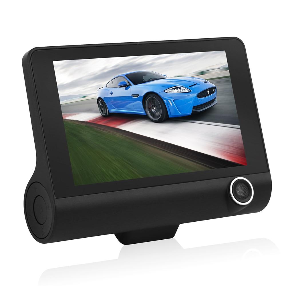 Geartronics 4 inch HD 1080P Car DVR Camera New Dual Lens Vehicle Dash Cam Rear Video G sensor Camera Recorder DVR Reversing Vide