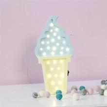 Pretty Ice cream Lamp for kids 3d Night Light Baby Room Sleeping Light Bedroom Desk Lamp Night Lamp for Summer Best for Gifts