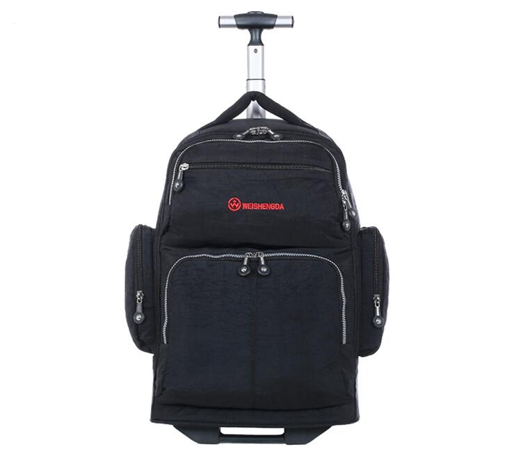 20 InchTravel Trolley Backpack Rolling Bag Wheels Men Oxford Travel Luggage Wheeled Backpack Rolling Business Suitcase On Wheels