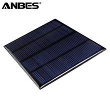 ANBES Solar Panels 12V 1.5W Mini Solar Cells Epoxy Polycrystalline Silicon DIY Solar Panels 150mA Solar Module 115x85mm