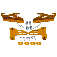 Front Bumper Wind Splitter Support Bracket 92 00 for civic integra with Bolts For Acura Integra 1994 2001