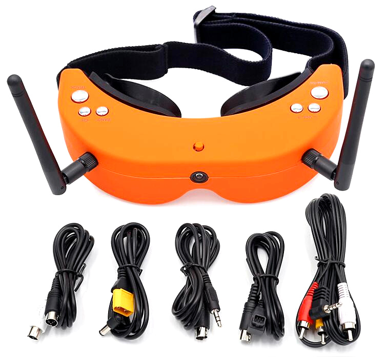 SKYZONE SKY-01S video glasses with head tracking built-in 5.8G 48CH receiver camera video object tracking