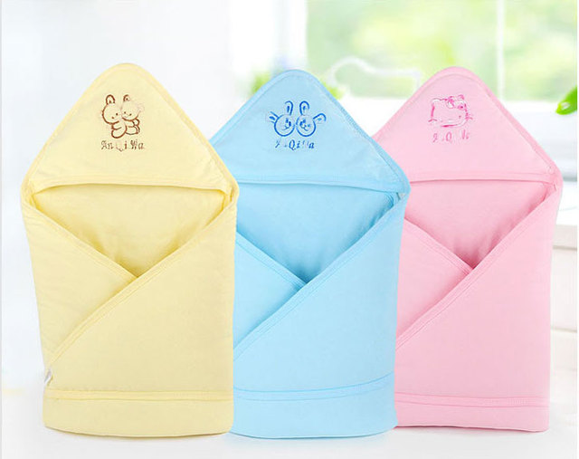 Brand 100% Cotton Baby Hooded Receiving Blankets Bath Towel Cobertor Newborn Kids Animal Cartoon Hooded Bathrobe Cuddle Blanket