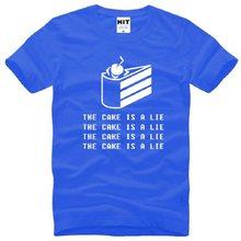 60edbbcb1f0 New Designer Portal 2 T Shirts Men Cotton Short Sleeve O-Neck The Cake Is A Lie  Men s T-Shirt Summer Style Game Tops Tees