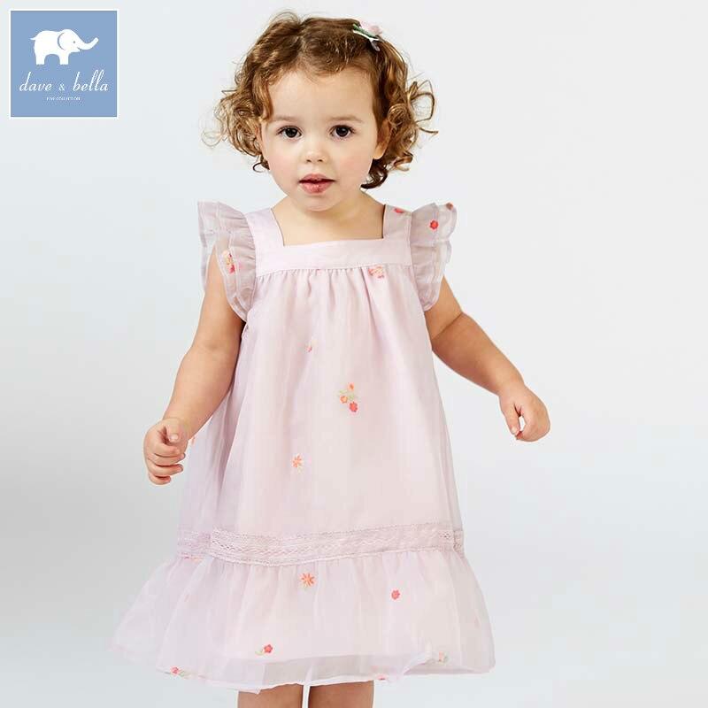 Dave bella princesse robes d'été pour filles enfants fête d'anniversaire vêtements sans manches enfants costumes belle robe de bébé DB6954