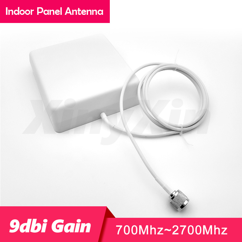 700-2700 MHz N Male Indoor Panel Antenna 9dBi Internal Antenna For 4G 3G 2G Mobile Cell Phone Signal Booster Repeater Amplifie
