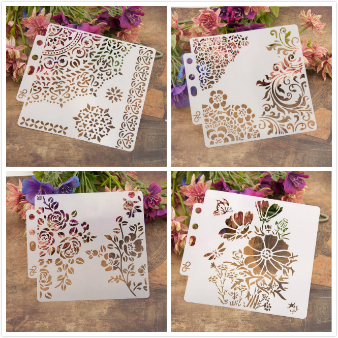 Home & Garden 19 Various Types Nice Hollow Layering Stencils For Wall Painting Scrapbooking Stamp Album Decor Diy Embossing Paper Card Bringing More Convenience To The People In Their Daily Life